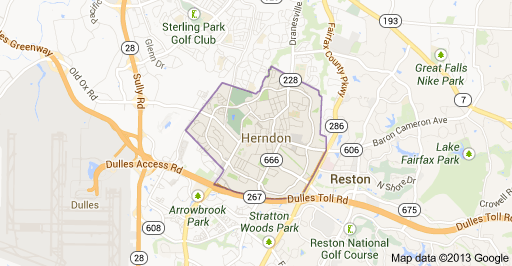 Herndon VA Map
