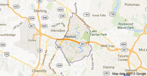 Reston VA Map