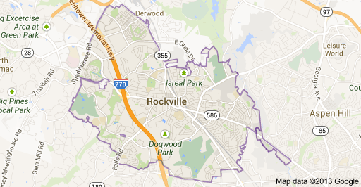 Rockville MD Map