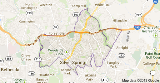 Silver Spring MD Map